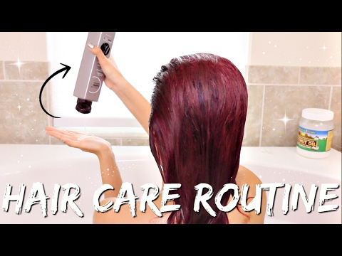 HAIR CARE ROUTINE   COLORED + BLEACHED