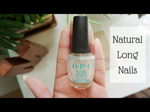 HOW I GREW OUT MY NAILS FAST | OPI NAIL ENVY REVIEW